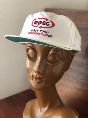 mpcc 白 アメリカ キャップ 企業物 レトロ