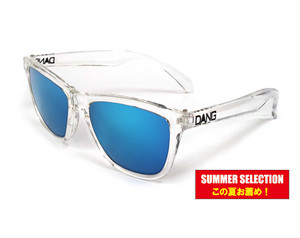 サングラス「DANG SHADES」ORIGINAL Crystal Clear x Blue Mirror