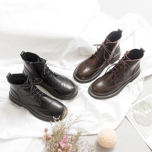 ブーツ 袴 レースアップ 編み上げ かわいい マニッシュ ぺたんこ アウトドア おしゃれ 秋冬 レディース 靴