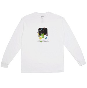 VANS × FROG SKATEBOARDS L/S TEE WHITE