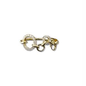 jewelG <Hoop>  リング K18/ダイヤモンド