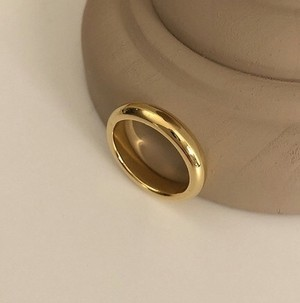 [92.5 silver] basic ring (GOLD)