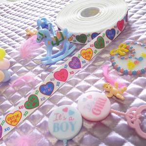 Candy Hearts xoxo リボン