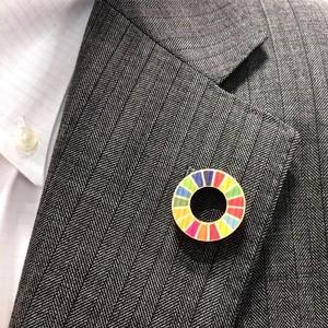 木製SDGsピンバッジ (カラーホイール)