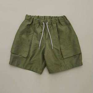 MOUN TEN. C/L moleskin fatigue shorts (khaki) 125 140 [21S-MP51-0921a] MOUNTEN.※1点までメール便OK