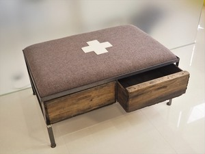 品番UEMW-102  2 drawer ottoman [wide / European Military Blanket]