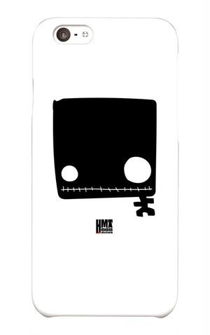 四角い黒ドクロ iphone6・6sケース