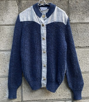 LANVIN Navy Knit Cardigan