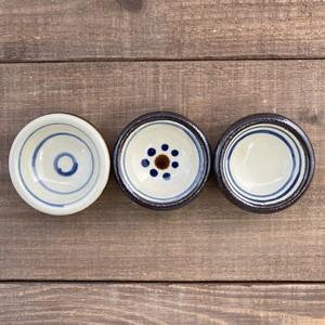豆まんじゅう鉢/輪描き・花打ち