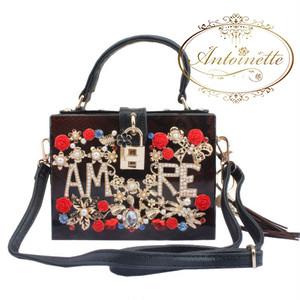 AMOR アモーレ 愛 バッグ 金具 かわいい 派手 キラキラ かわいい ドルチェボックス パーティーバッグ ハンドバッグ