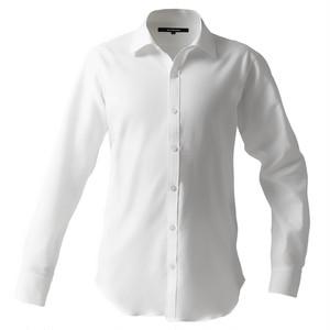 DJS-777 decollouomo メンズドレスシャツ 長袖 overture - ピュアホワイト