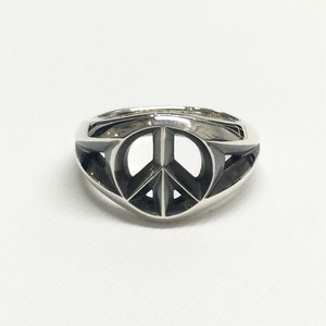amp japan/Triangle Wire Peace Ring -Wide-