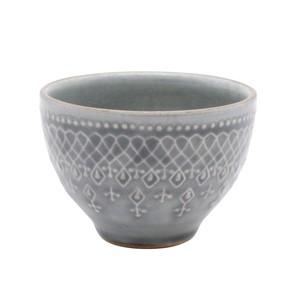 益子焼 わかさま陶芸 「フレンチレース」 汲み出し カップ 約250ml グレー 256128