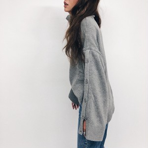 Volume Button Knit