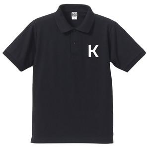 K ポロシャツ(ネイビー×ホワイト)
