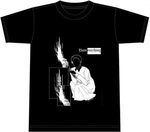 1797071 / BURN EVERYTHING long sleeve t-shirts(black/white body)