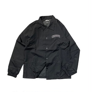 CHRYSTIE NYC / COLLEGIATE LOGO COACH JACKET -BLACK-