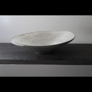 銀彩を施したパスタやカレーを美しく見せる器 陶芸作家【谷井直人】黒×銀彩 Bowl  楕円鉢