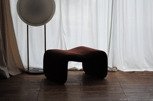 Brown Djinn Ottoman by Olivier Mourgue for Airborne 1960s