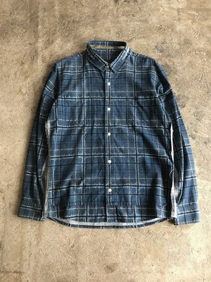【used】UNDER CONVER  SCAB期 check damage shirt アンダーカバー 有刺鉄線チェック ダメージ加工 シャツ