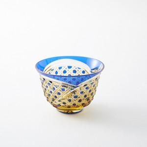 江戸切子 伝統工芸 琥珀色瑠璃被せクリスタルガラス 冷茶グラス 結婚祝 海外土産 退職祝 記念品 誕生日プレゼント