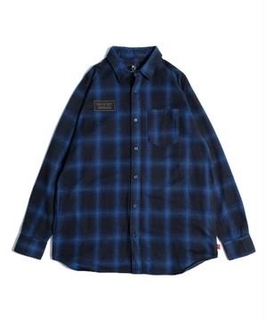 "VIRGOwearworks / ヴァルゴウエアワークス   "" MIDDLE LONG CHECK SHIRTS "" - Blue"