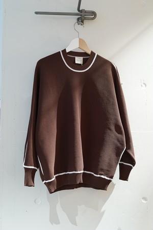 jonnlynx / knit tracksuit pullover (brown)