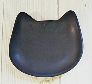 猫まめ皿 ブラック