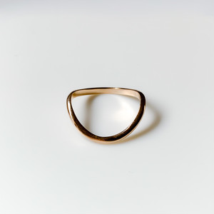 half moon ring -K10-