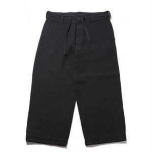 Porter Classic Sashiko Strech Wide Pants ポータークラシック 刺し子 ワイド パンツ(BLACK) [PC-018-1168]