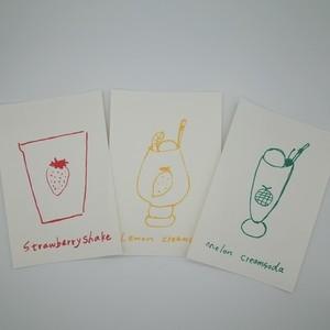 postcard set(fruits series)