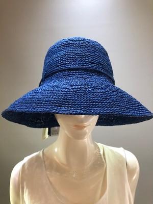 Sans Arcidet (サンアルシデ)FANNY HAT Col.China(Blue) ラフィア定番人気の帽子 マダガスカル製