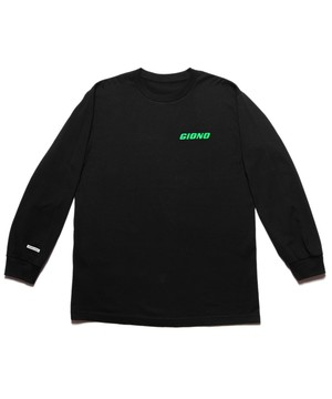 "SEASONING × GIONO L/S TEE ""BMX"" - BLACK"