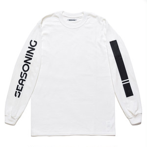 SEASONING LOGO L/S TEE  - WHITE