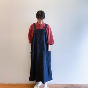 C-4186 Denim Salopette Skirt
