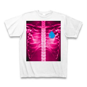 ASH DROP ボーンドロッププリントTシャツ ピンク