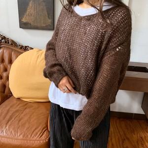 Autumn see-through knit
