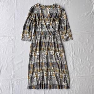 V neck stretch dress