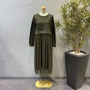 botanical/チュール切替ワンピース