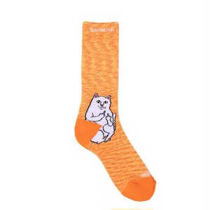 RIPNDIP - Lord Nermal Socks (Orange Speckle)