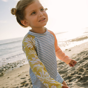 【mini seea】Doheni Kids Rashguard - Chambray