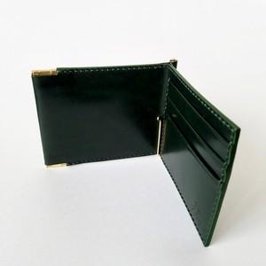 【再販】コインケース付きマネークリップ(深緑)