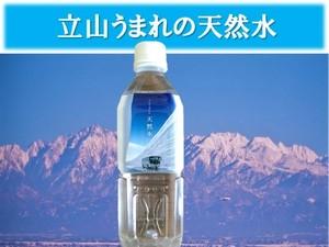 立山うまれの天然水500ml×24本入1ケース