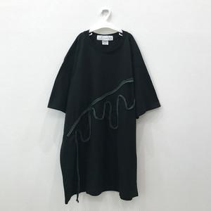 ビッグシルエットTシャツ(溶けちゃった)Black×Green