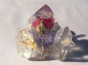 薔薇の鉱物オブジェ