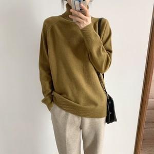 Plain Turtleneck Sweater T611