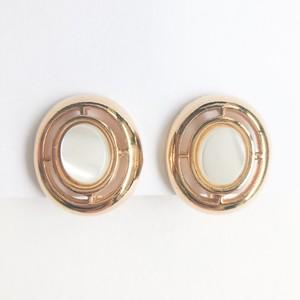 """AVON"" Genuine Mother of Pearl earring[e-1219] ヴィンテージイヤリング"