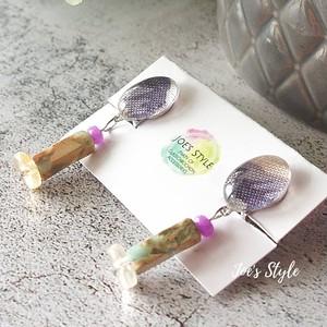 """"""" Earrings NO.0-1827″ 小さな天然石"""