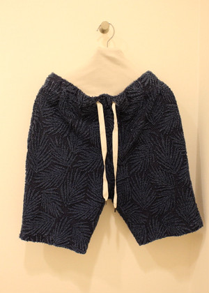 biography Indigo Pile Shorts