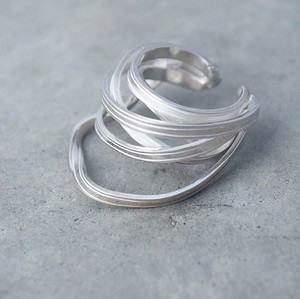 ribbon ring (L) silver